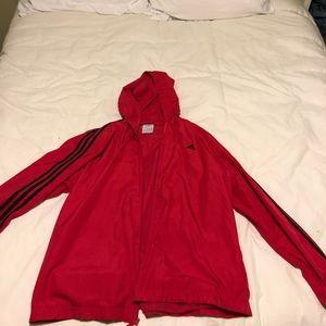 adidas Jackets & Coats - Vintage Adidas Red Windbreaker
